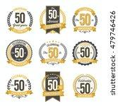 set of vintage anniversary... | Shutterstock .eps vector #479746426