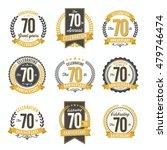 set of vintage anniversary... | Shutterstock .eps vector #479746474