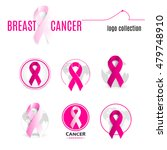 isolated pink color ribbon in a ... | Shutterstock .eps vector #479748910