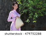 beautiful woman with vietnam... | Shutterstock . vector #479752288