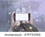 connectivity concept. woman... | Shutterstock . vector #479752900