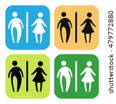toilet sign vector set | Shutterstock .eps vector #479772880
