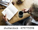 coffee break reading travel... | Shutterstock . vector #479775598