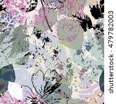 seamless leaves background... | Shutterstock .eps vector #479782003