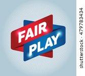 fair play arrow tag sign. | Shutterstock .eps vector #479783434