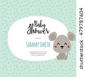 baby shower card | Shutterstock .eps vector #479787604