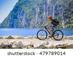 mountain biking on lake garda ... | Shutterstock . vector #479789014