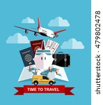 travel and tourism concept. air ... | Shutterstock .eps vector #479802478