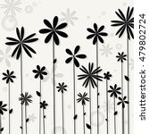 illustration of black flower.... | Shutterstock .eps vector #479802724