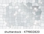 polygon background of silver... | Shutterstock .eps vector #479802820