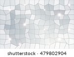 polygon background of silver... | Shutterstock .eps vector #479802904