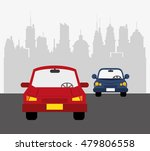 cars with city background ... | Shutterstock .eps vector #479806558