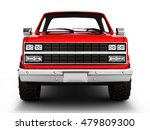 Red Pickup Truck Isolated On...