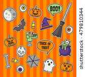 halloween fashion cute patch... | Shutterstock .eps vector #479810344