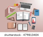 workplace vector illustration.... | Shutterstock .eps vector #479813404