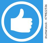 thumb up vector rounded icon....   Shutterstock .eps vector #479822536
