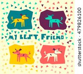 cartoon dog friend for... | Shutterstock .eps vector #479826100