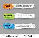 modern vector polygonal banners | Shutterstock .eps vector #479829358