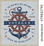 vintage nautical voyager... | Shutterstock .eps vector #479832790