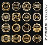 golden retro vintage labels... | Shutterstock .eps vector #479834710