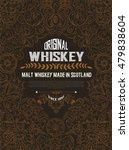 old  label design for whiskey... | Shutterstock .eps vector #479838604