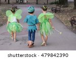 boy dressed as peter pan and... | Shutterstock . vector #479842390