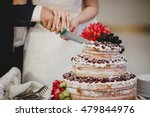 the married couple cut the... | Shutterstock . vector #479844976