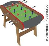 table soccer. soccer table on... | Shutterstock .eps vector #479846500