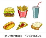 set of junk food icon doodle... | Shutterstock .eps vector #479846608