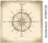old compass | Shutterstock .eps vector #47984728