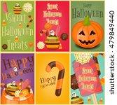 halloween sweet treats   jack o ... | Shutterstock .eps vector #479849440