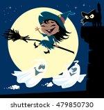 a set of cute little witch... | Shutterstock .eps vector #479850730