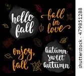 fall handwritten brush... | Shutterstock .eps vector #479851288