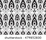 vector seamless black and white ... | Shutterstock .eps vector #479852830