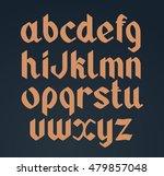 vector gothic handwritten font. ... | Shutterstock .eps vector #479857048