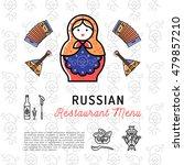 russian food concept ... | Shutterstock .eps vector #479857210