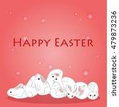 happy easter. cute easter... | Shutterstock .eps vector #479873236
