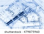 architecture blueprint    house ... | Shutterstock . vector #479875960