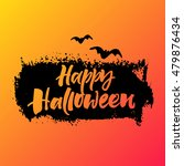 happy halloween greeting card.... | Shutterstock .eps vector #479876434