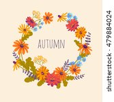 autumn. hand drawn... | Shutterstock .eps vector #479884024
