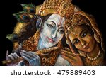Divine Couple Krishna And Radh...