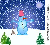 snowman  vector illustration.... | Shutterstock .eps vector #479891068