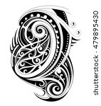 maori tribal design | Shutterstock .eps vector #479895430