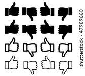 Vector Thumbs Up Set