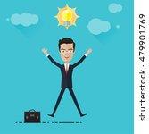 businessman or manage and idea...