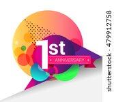 1st anniversary logo  colorful... | Shutterstock .eps vector #479912758