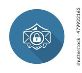 email security icon. flat...