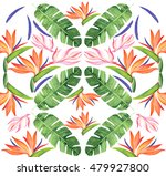 floral watercolor pattern with... | Shutterstock . vector #479927800