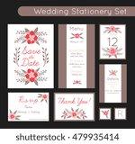 set of invitations templates ... | Shutterstock .eps vector #479935414
