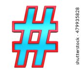 number mark sign from light... | Shutterstock . vector #479935828